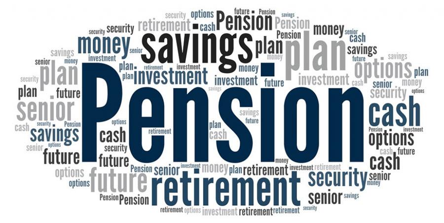 word cloud: pension